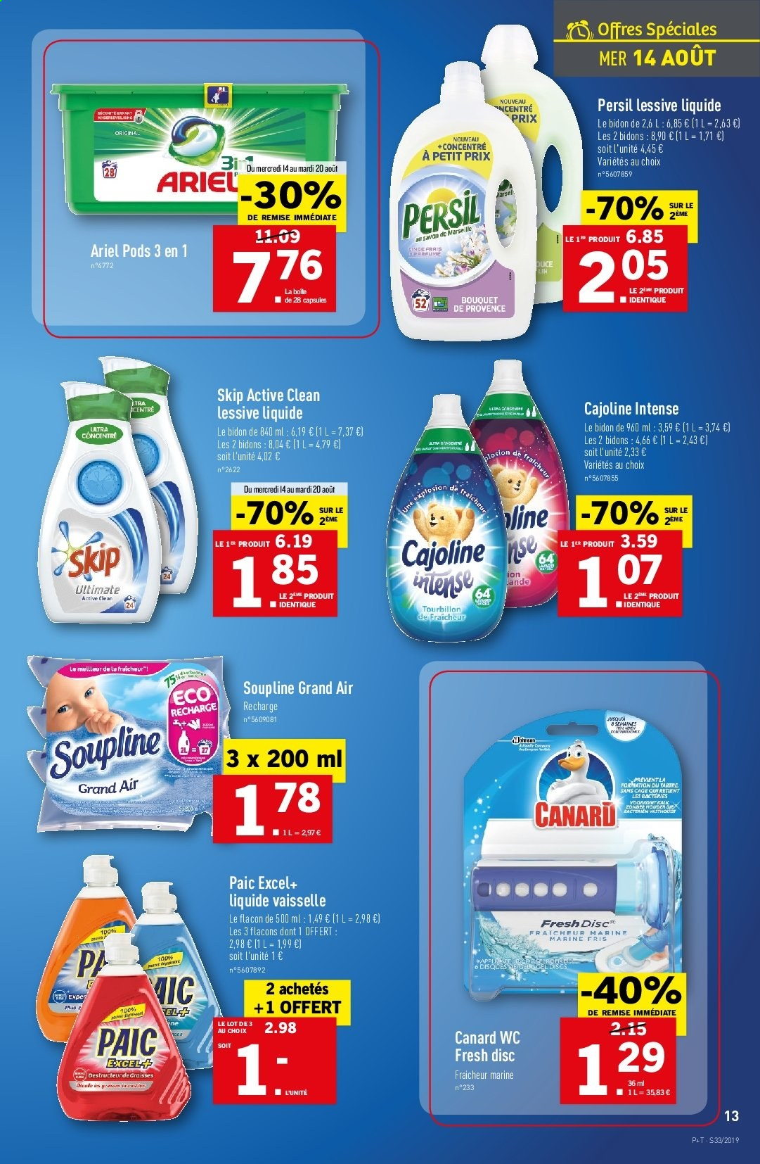 Catalogue Lidl - 14.08.2019 - 20.08.2019. Page 13.