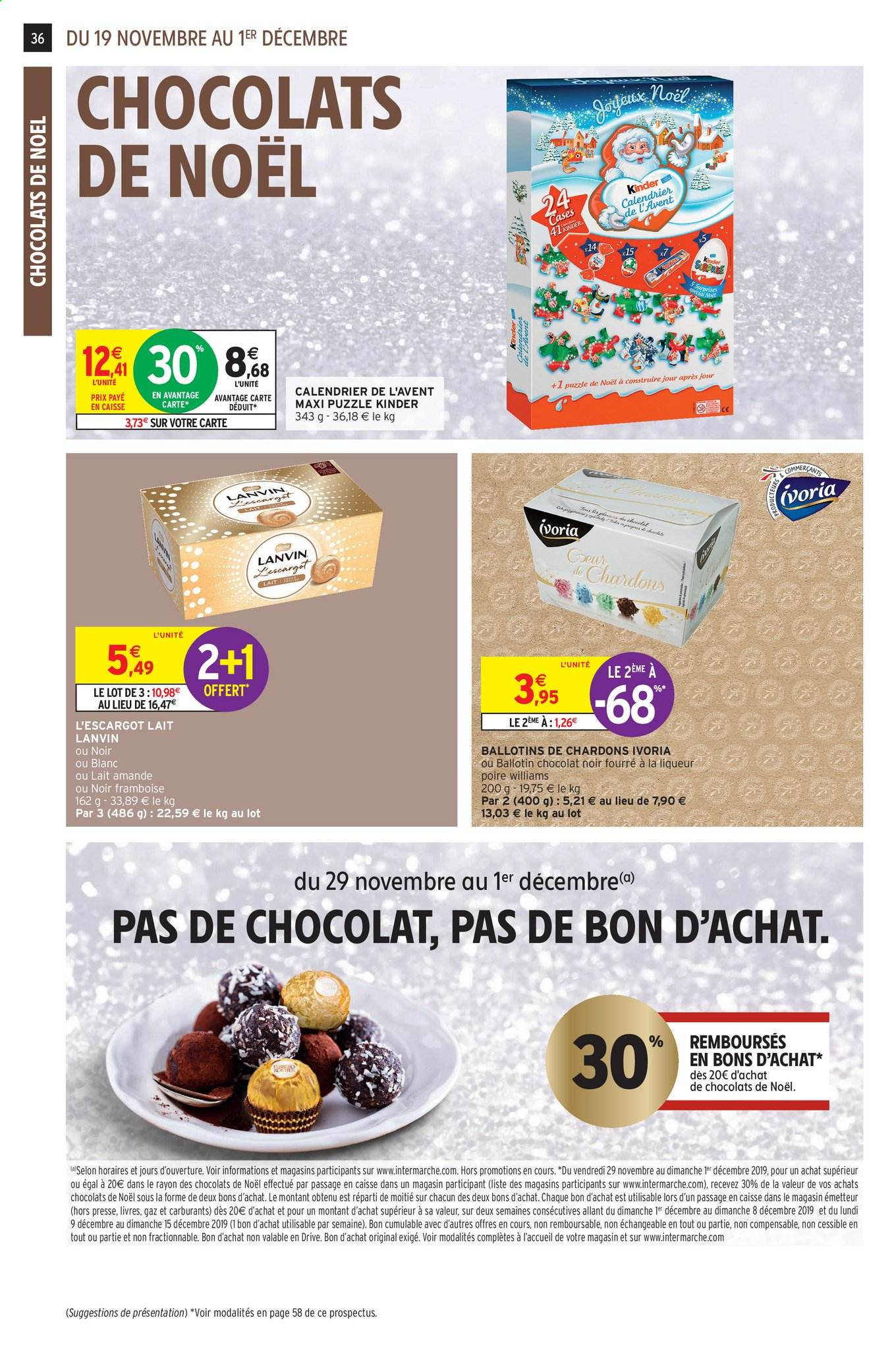 Catalogue Intermarché - 19.11.2019 - 01.12.2019. Page 32.
