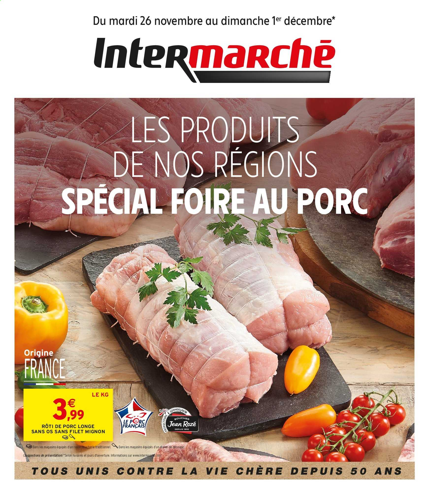 Catalogue Intermarché - 26.11.2019 - 01.12.2019. Page 1.