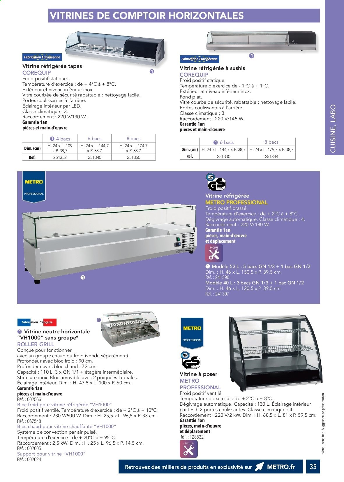 Catalogue Metro. Page 34.
