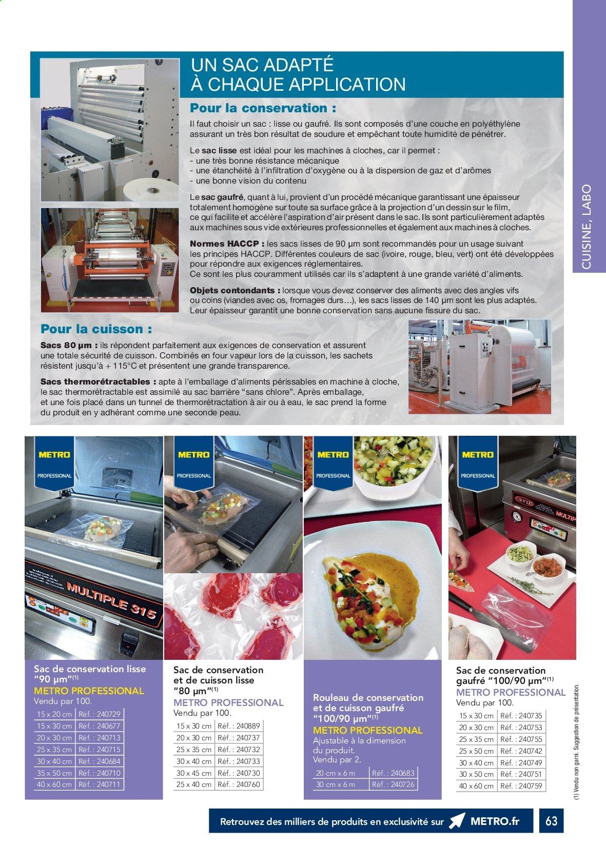 Catalogue Metro. Page 62.