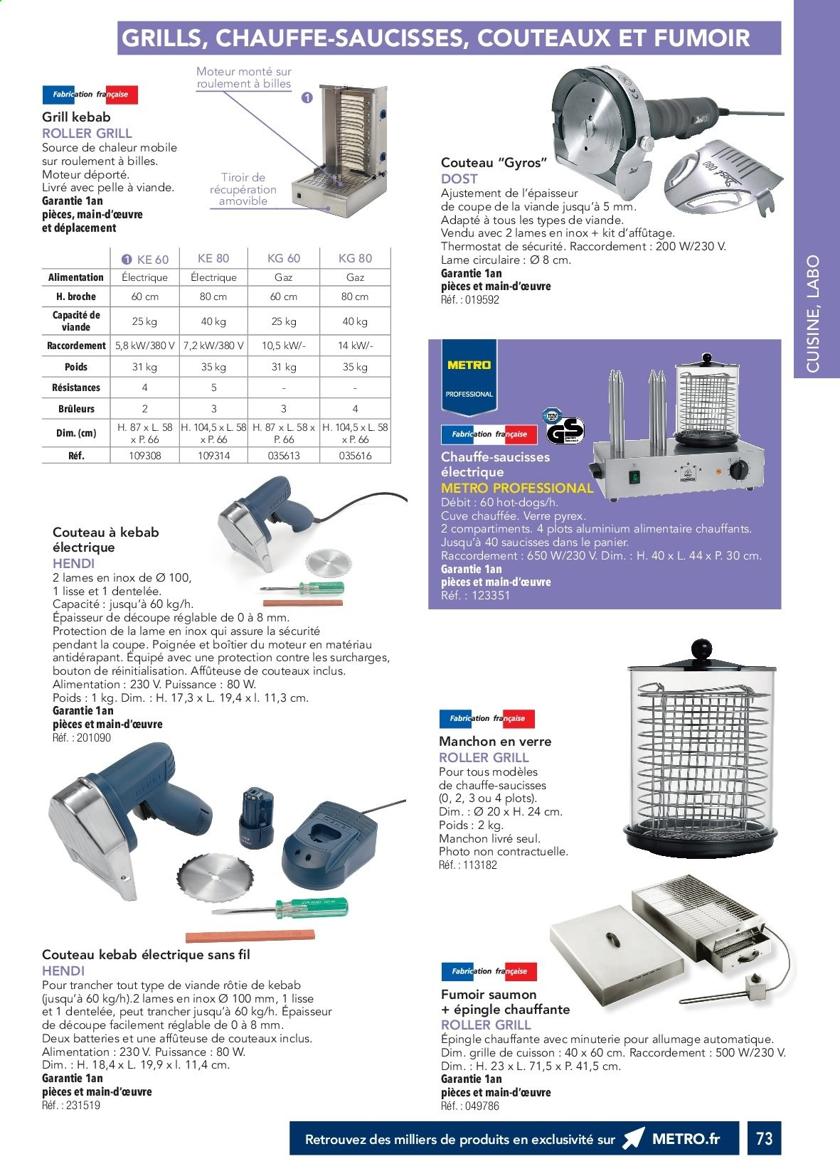 Catalogue Metro. Page 72.
