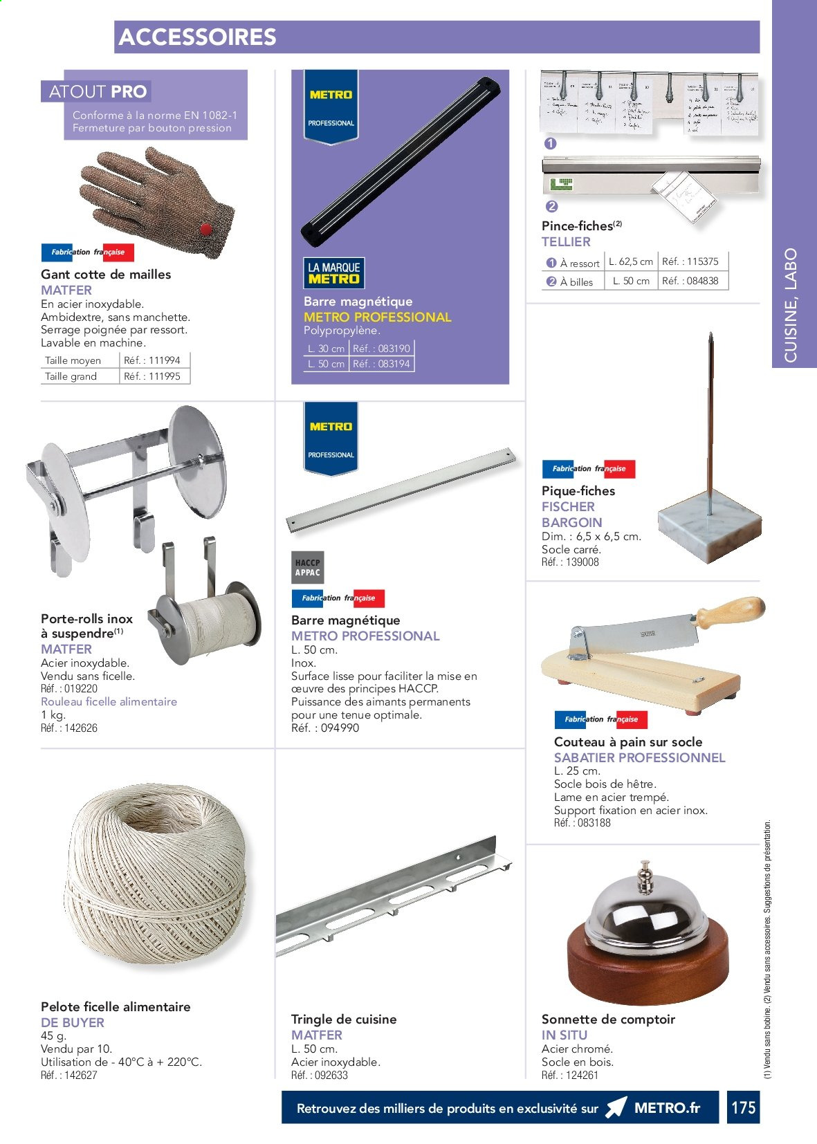 Catalogue Metro. Page 174.