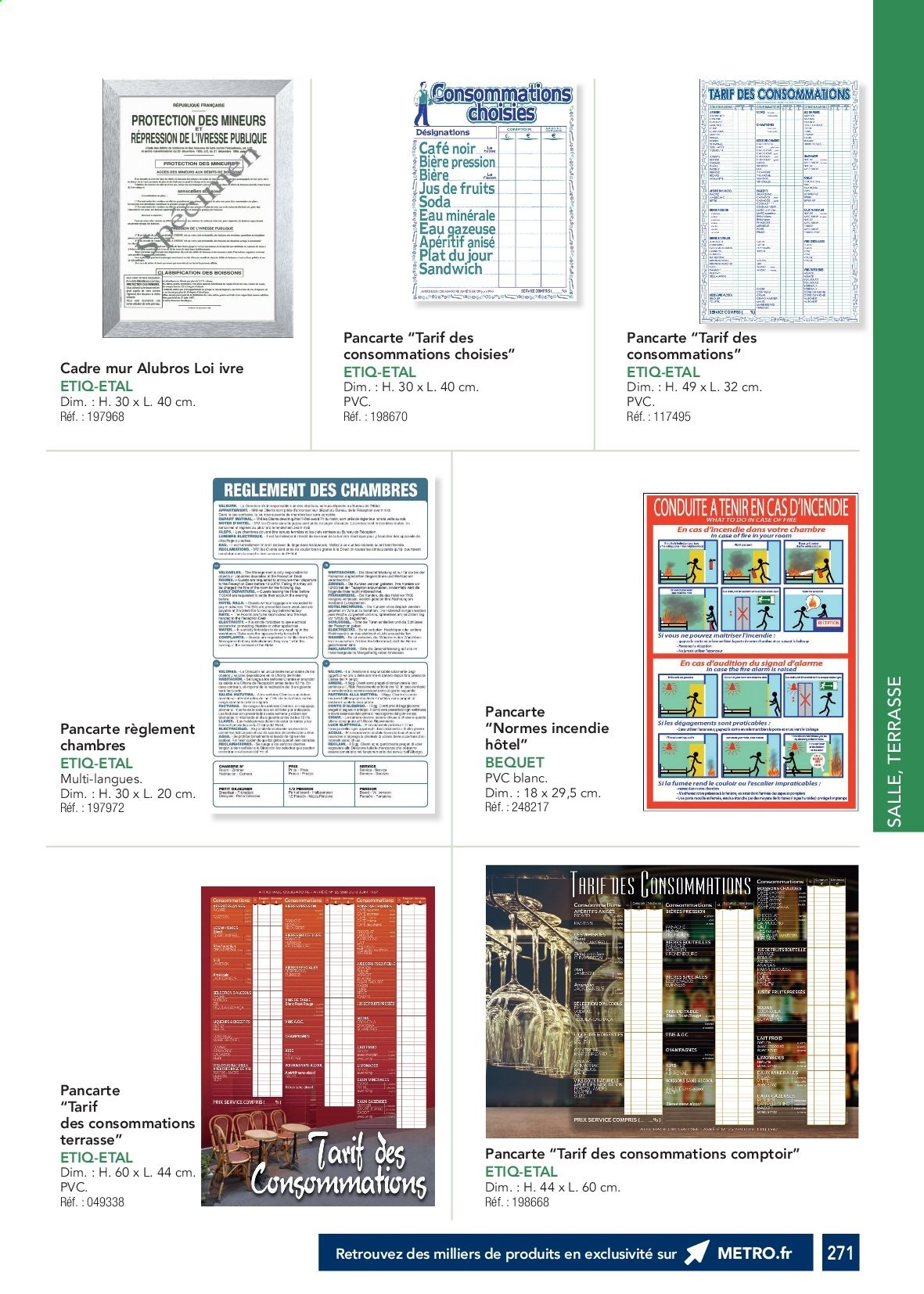Catalogue Metro. Page 270.