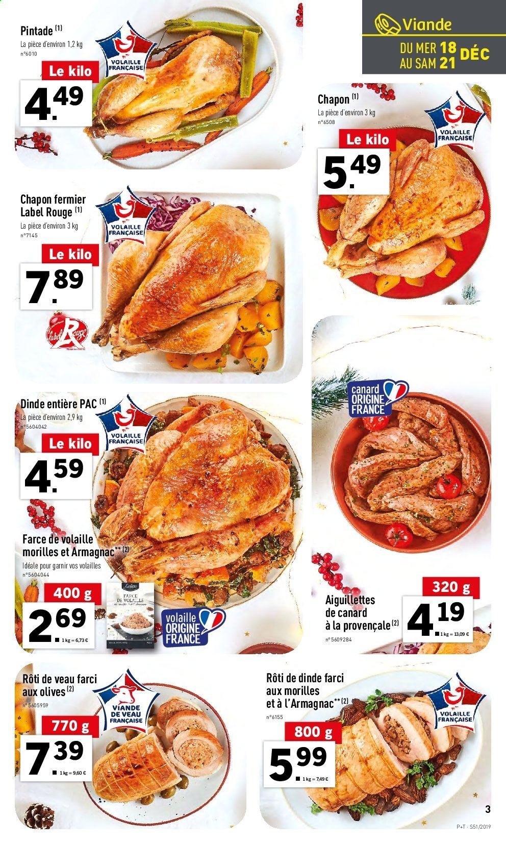 Catalogue Lidl - 18.12.2019 - 24.12.2019. Page 3.