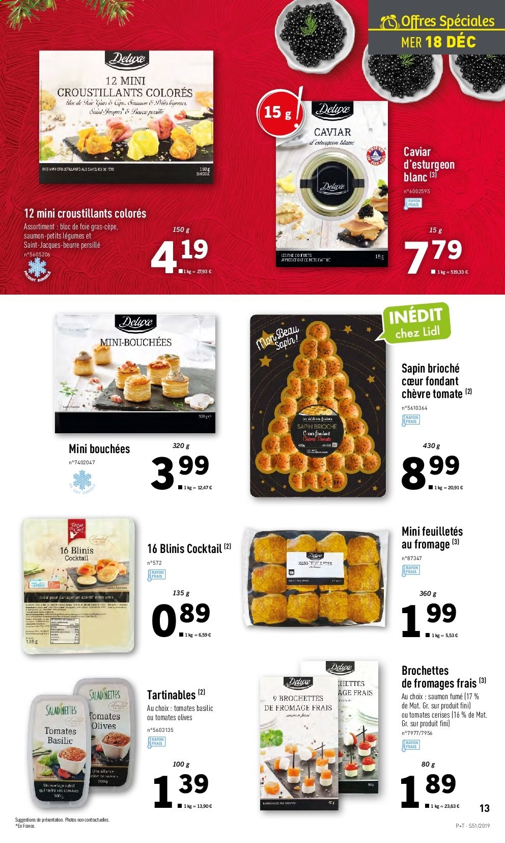 Catalogue Lidl - 18.12.2019 - 24.12.2019. Page 13.