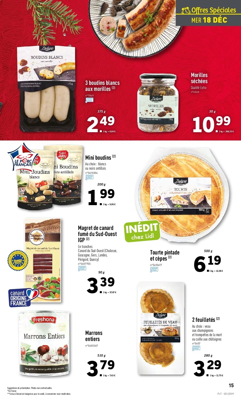 Catalogue Lidl - 18.12.2019 - 24.12.2019. Page 15.