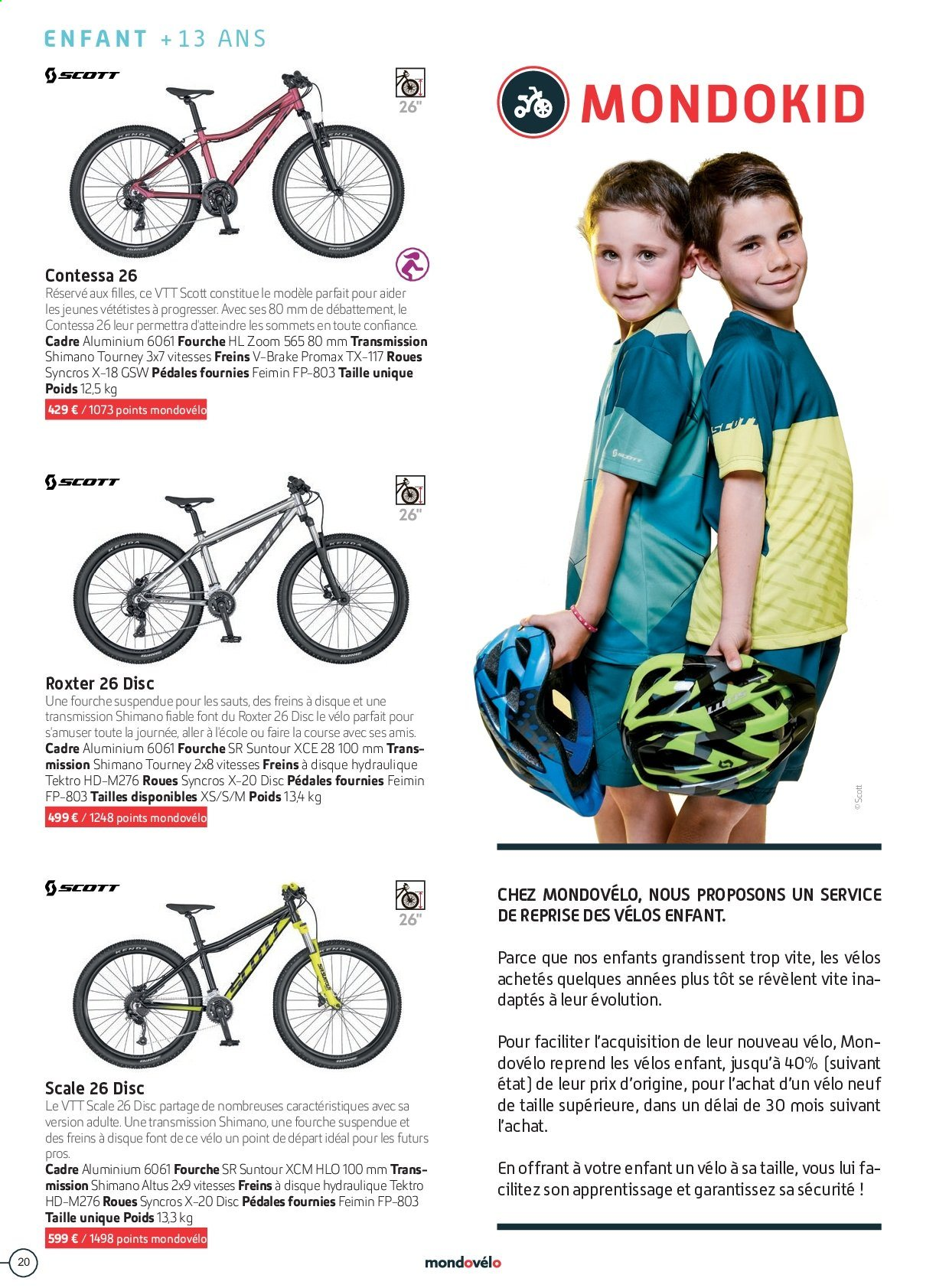 Catalogue Sport 2000. Page 20.