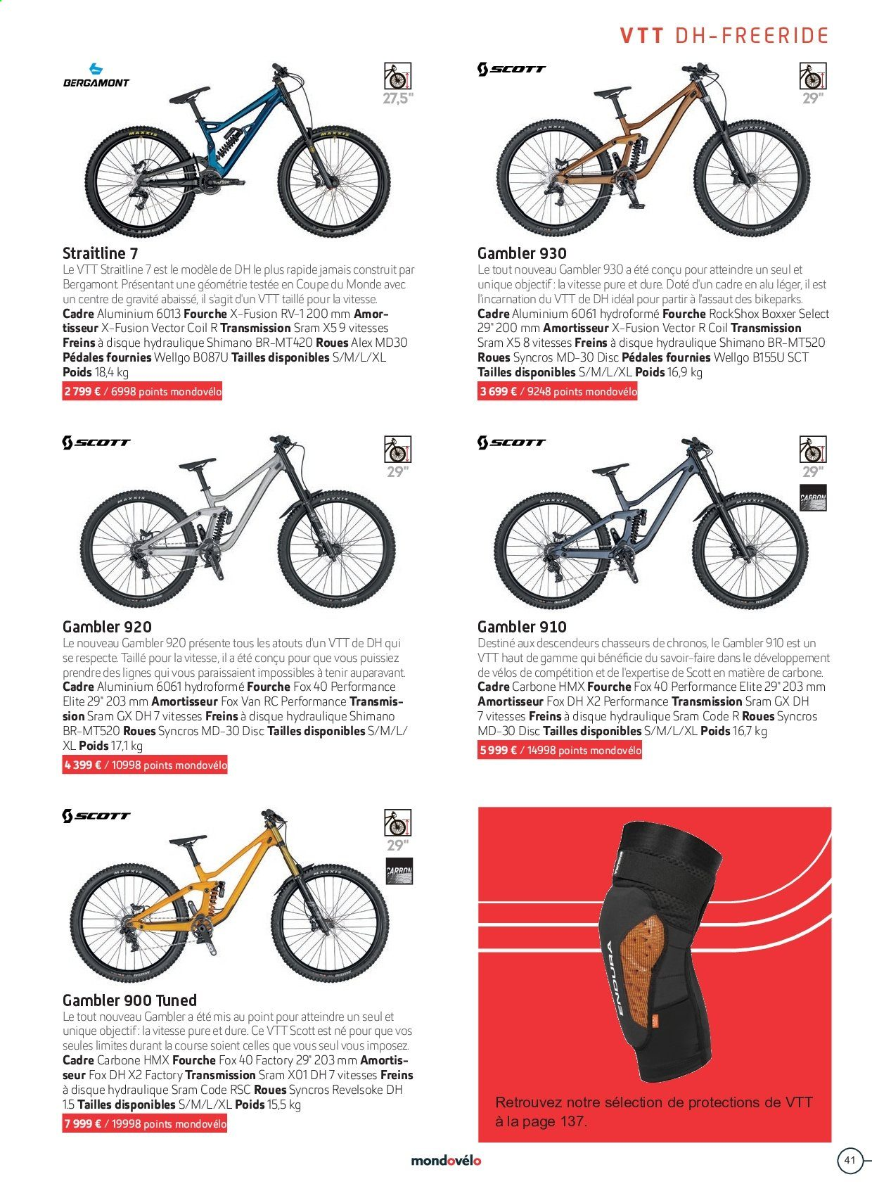 Catalogue Sport 2000. Page 41.