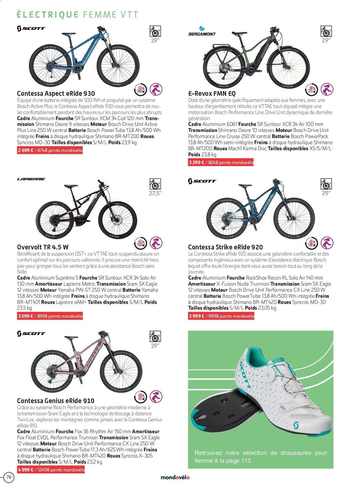 Catalogue Sport 2000. Page 76.