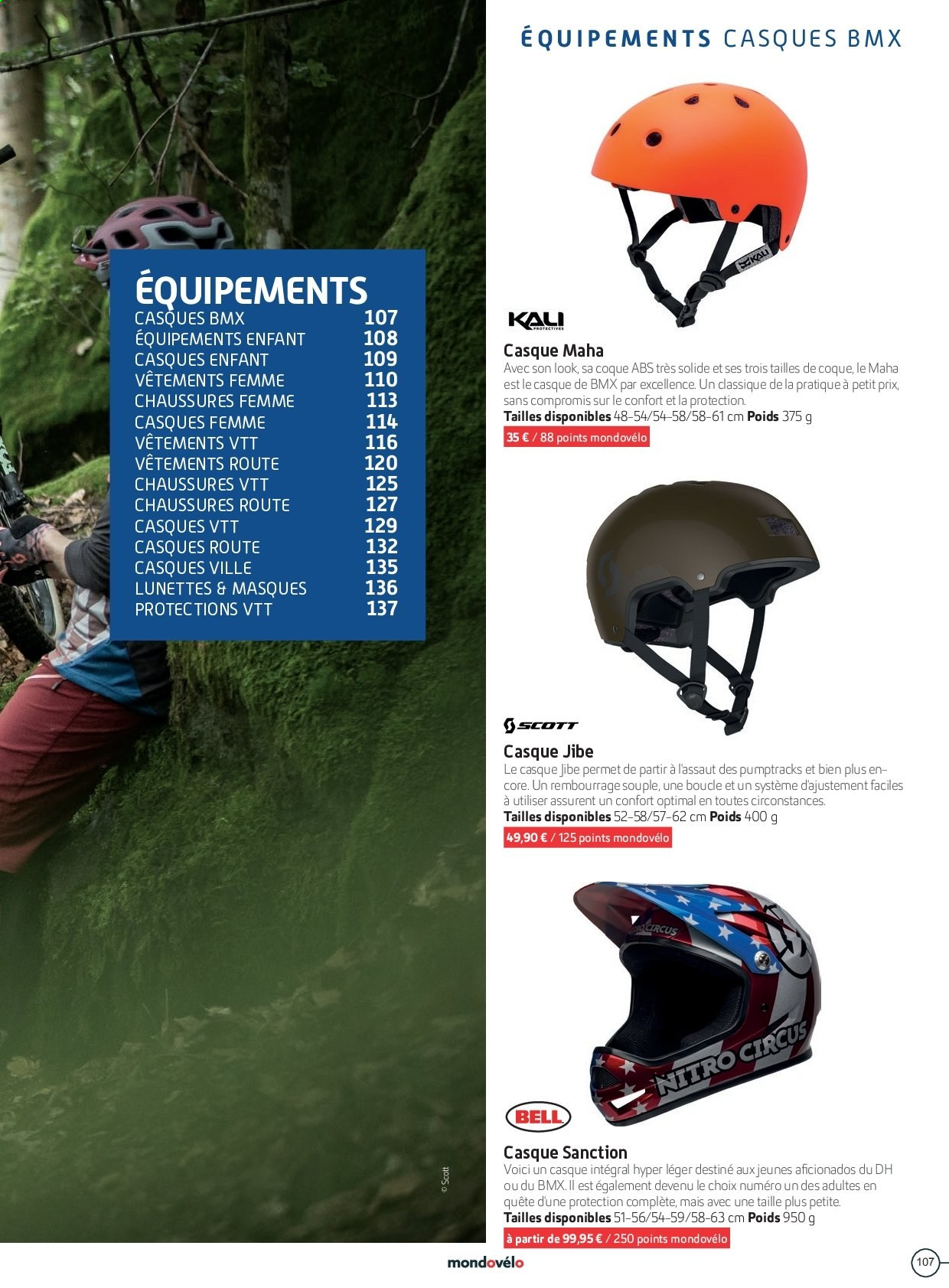 Catalogue Sport 2000. Page 107.