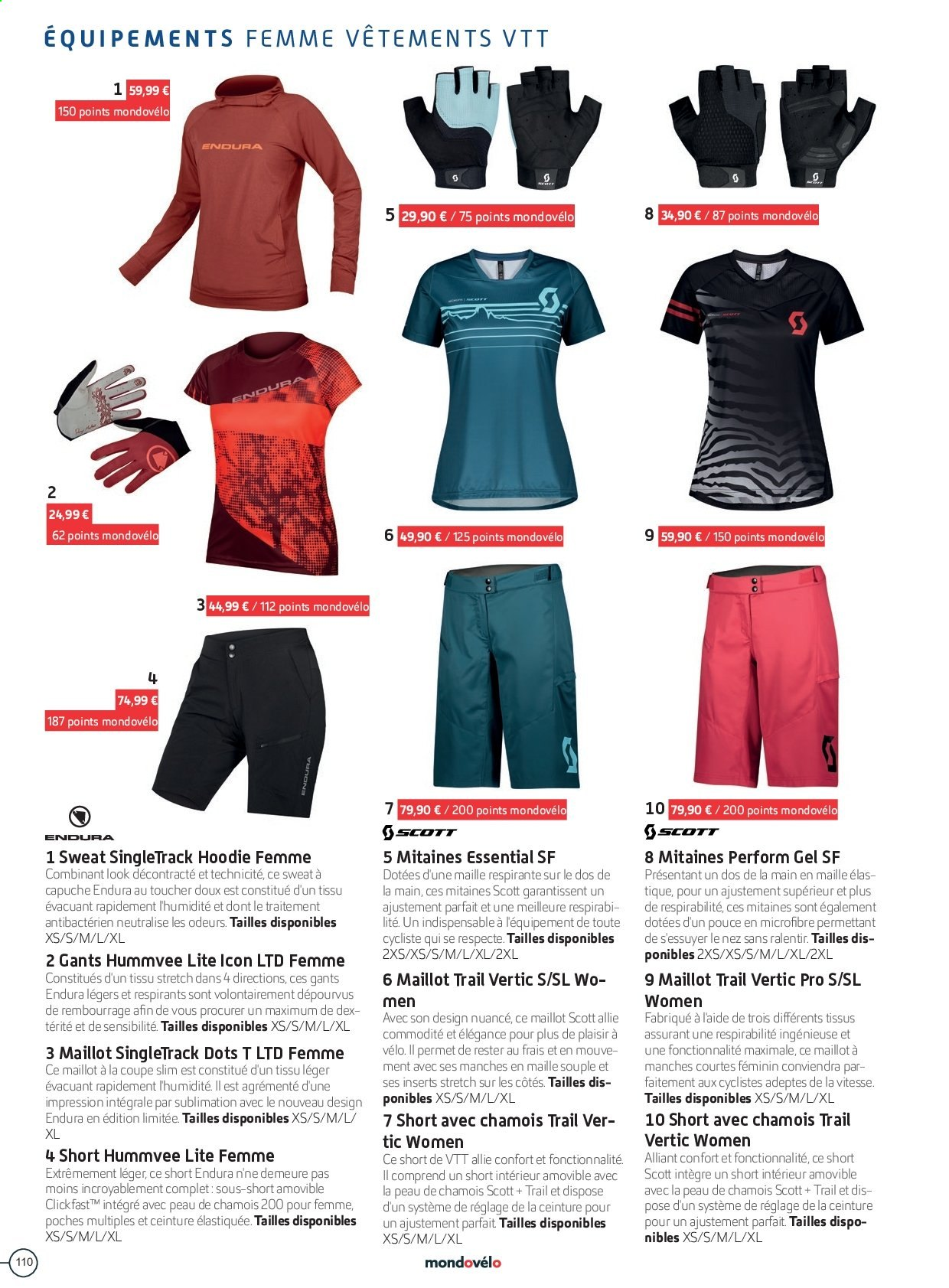 Catalogue Sport 2000. Page 110.