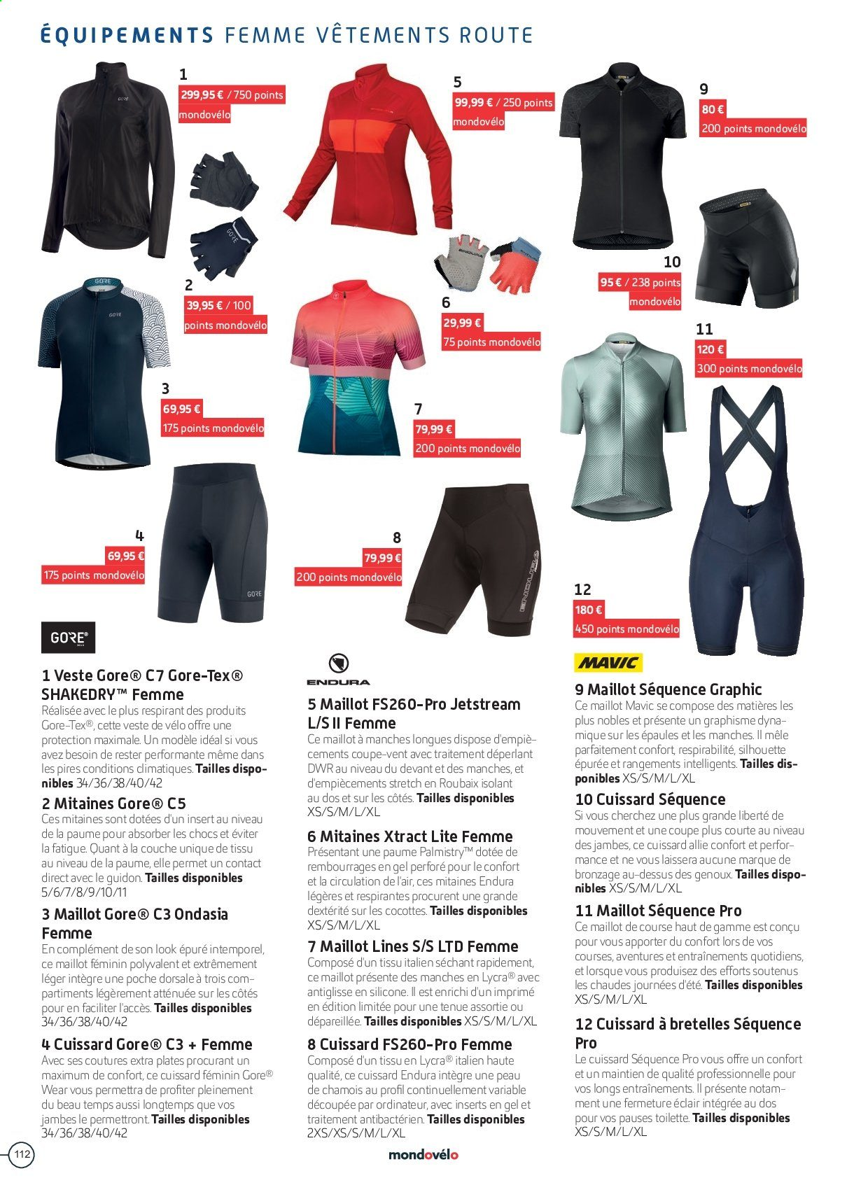 Catalogue Sport 2000. Page 112.