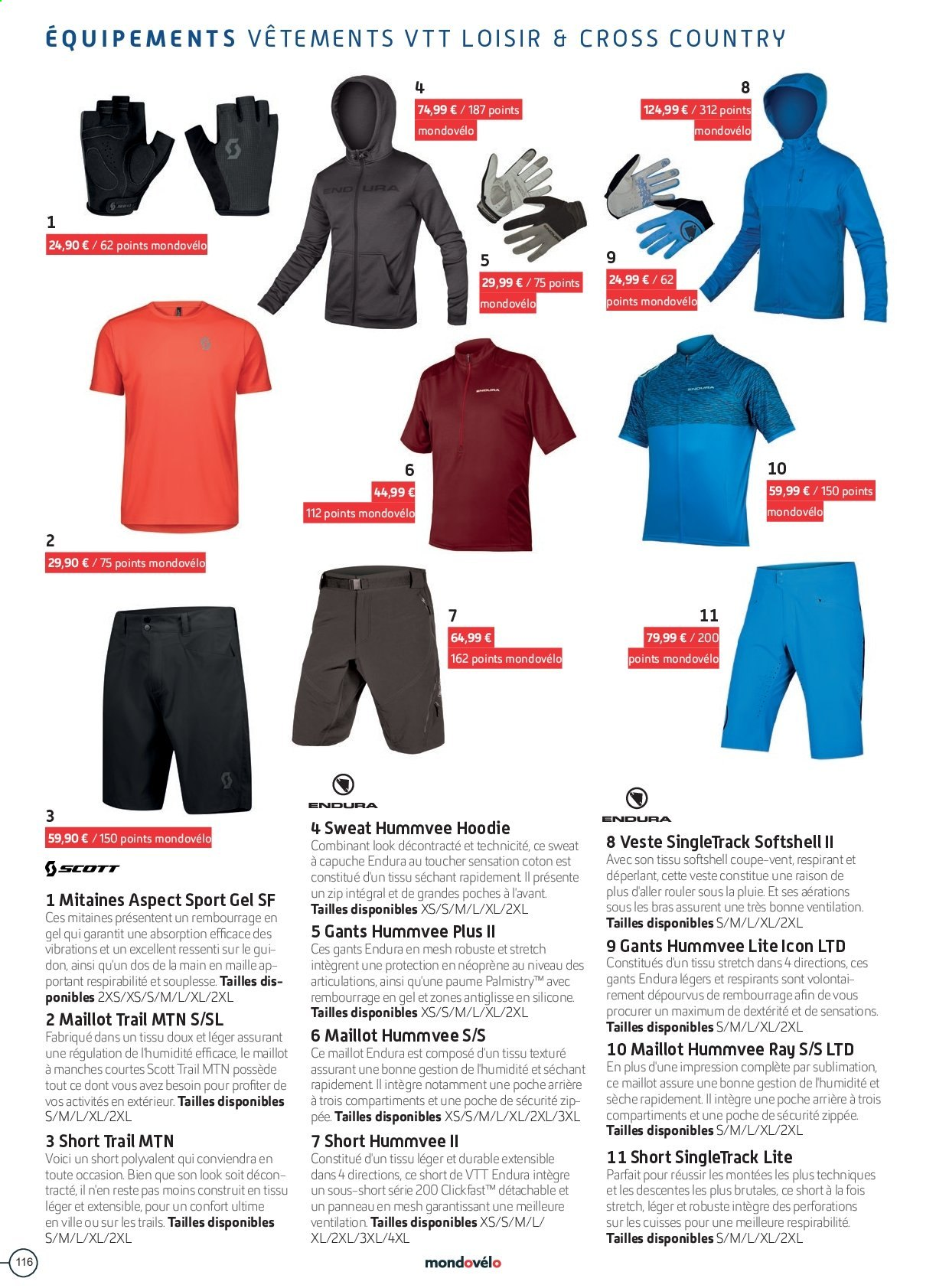 Catalogue Sport 2000. Page 116.
