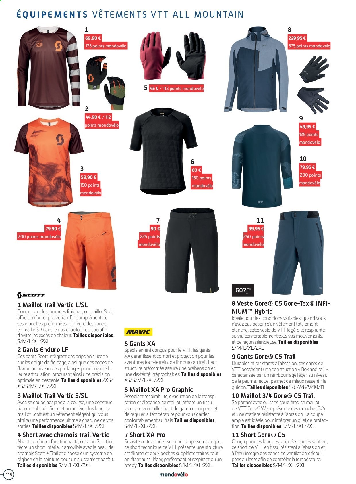 Catalogue Sport 2000. Page 118.