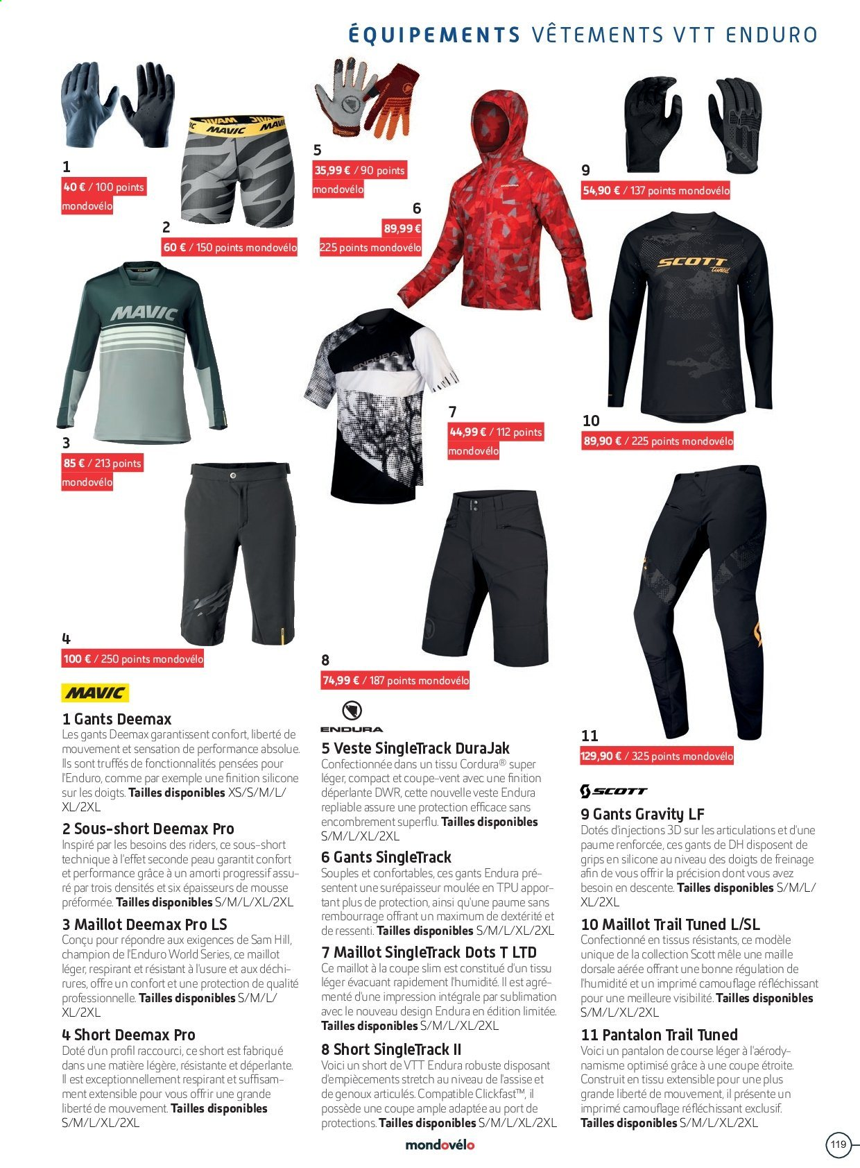 Catalogue Sport 2000. Page 119.