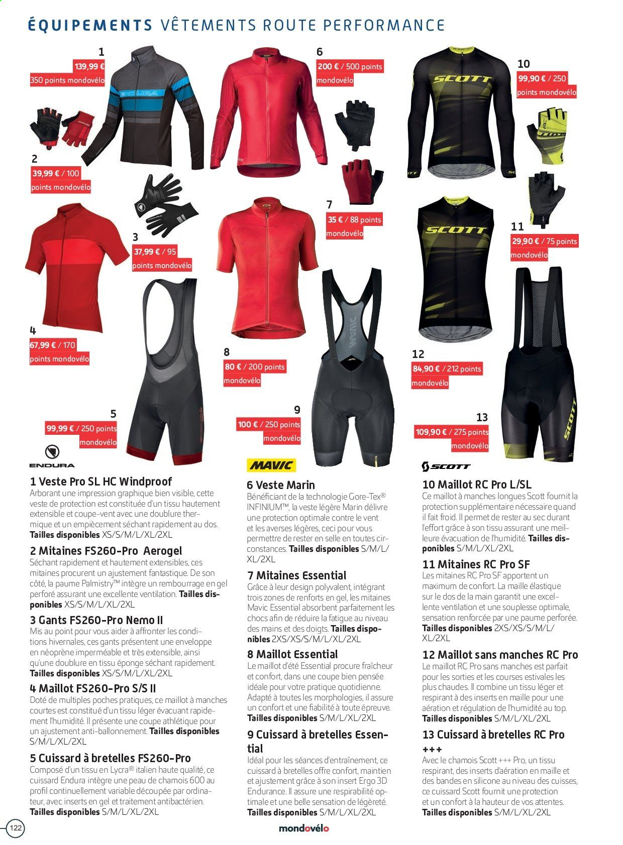Catalogue Sport 2000. Page 122.