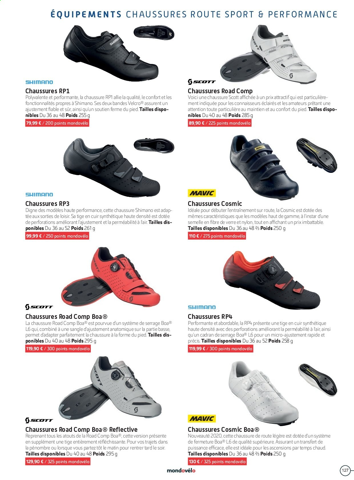 Catalogue Sport 2000. Page 127.