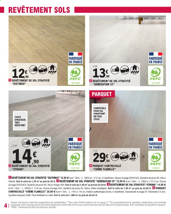 Catalogue E.Leclerc - 31.12.2019 - 18.01.2020. Page 4.