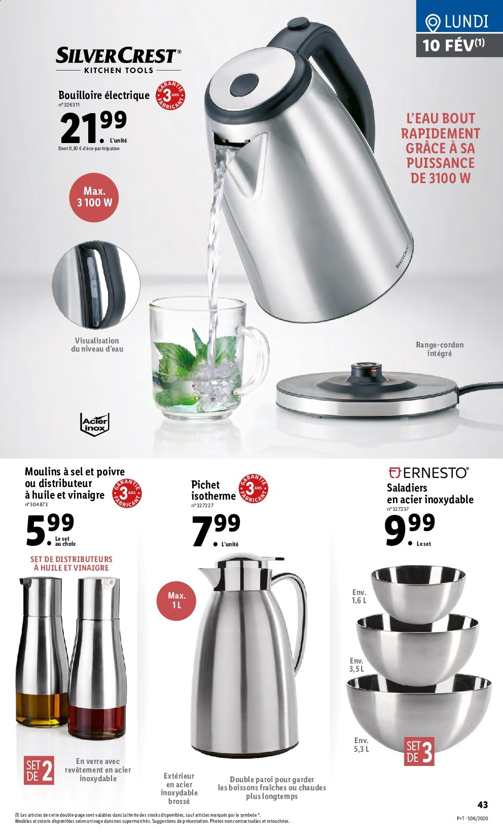 Catalogue Lidl - 05.02.2020 - 11.02.2020. Page 43.