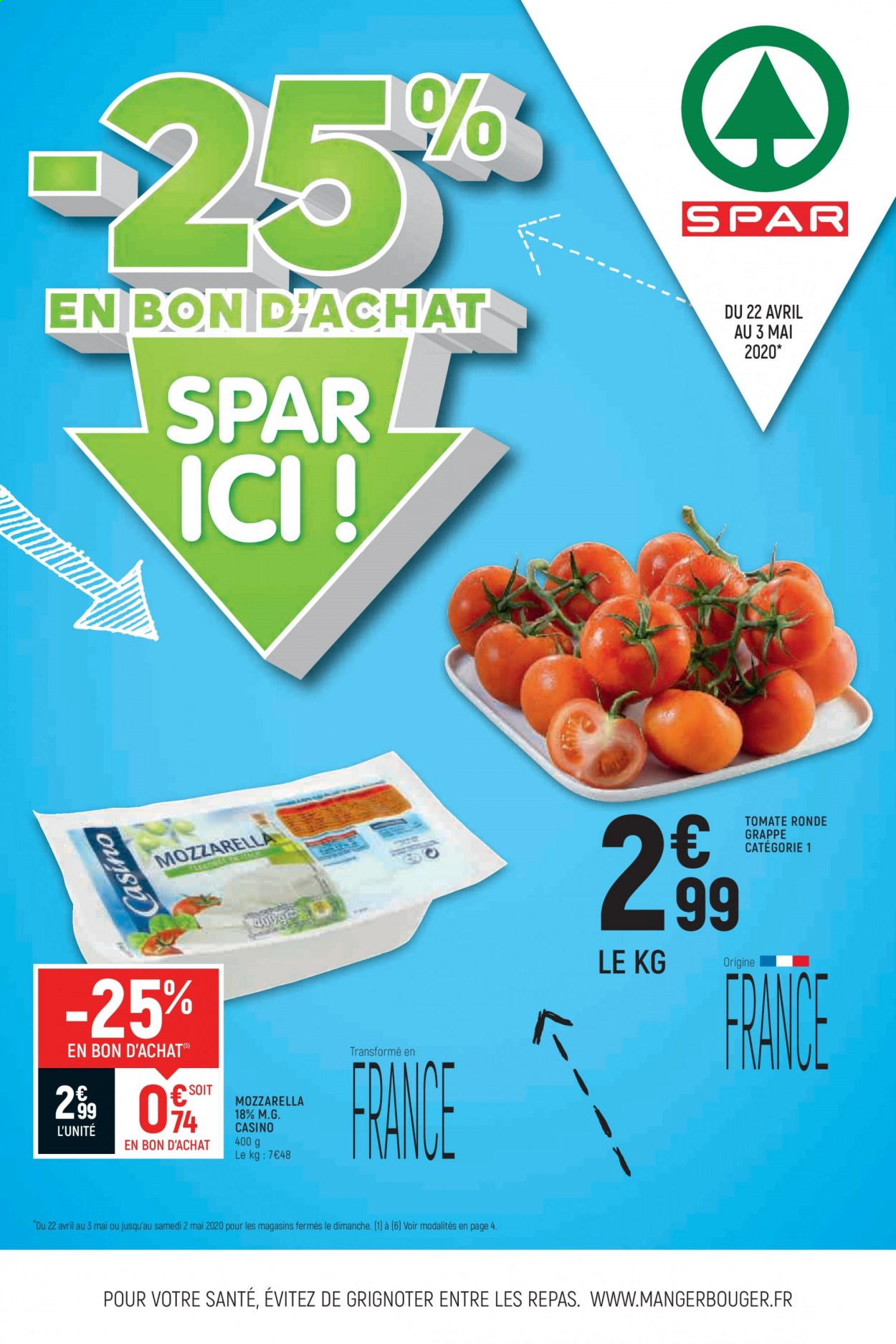 Catalogue SPAR - 22.04.2020 - 03.05.2020. Page 1.