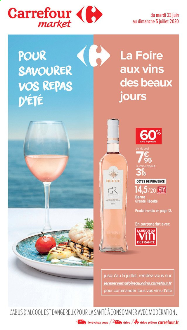 Catalogue Carrefour - 23.06.2020 - 05.07.2020. Page 1.