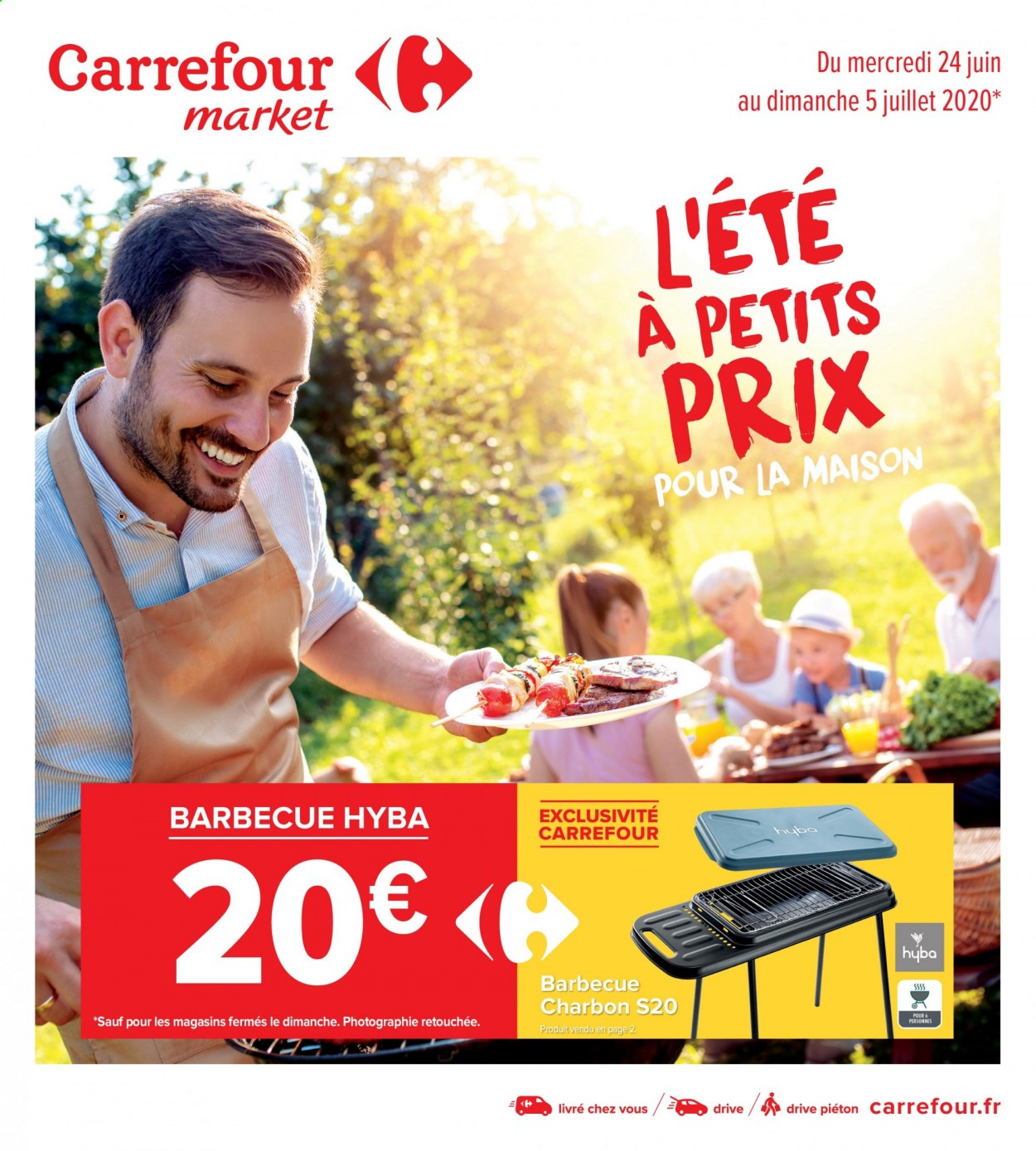 Catalogue Carrefour - 24.06.2020 - 05.07.2020. Page 1.