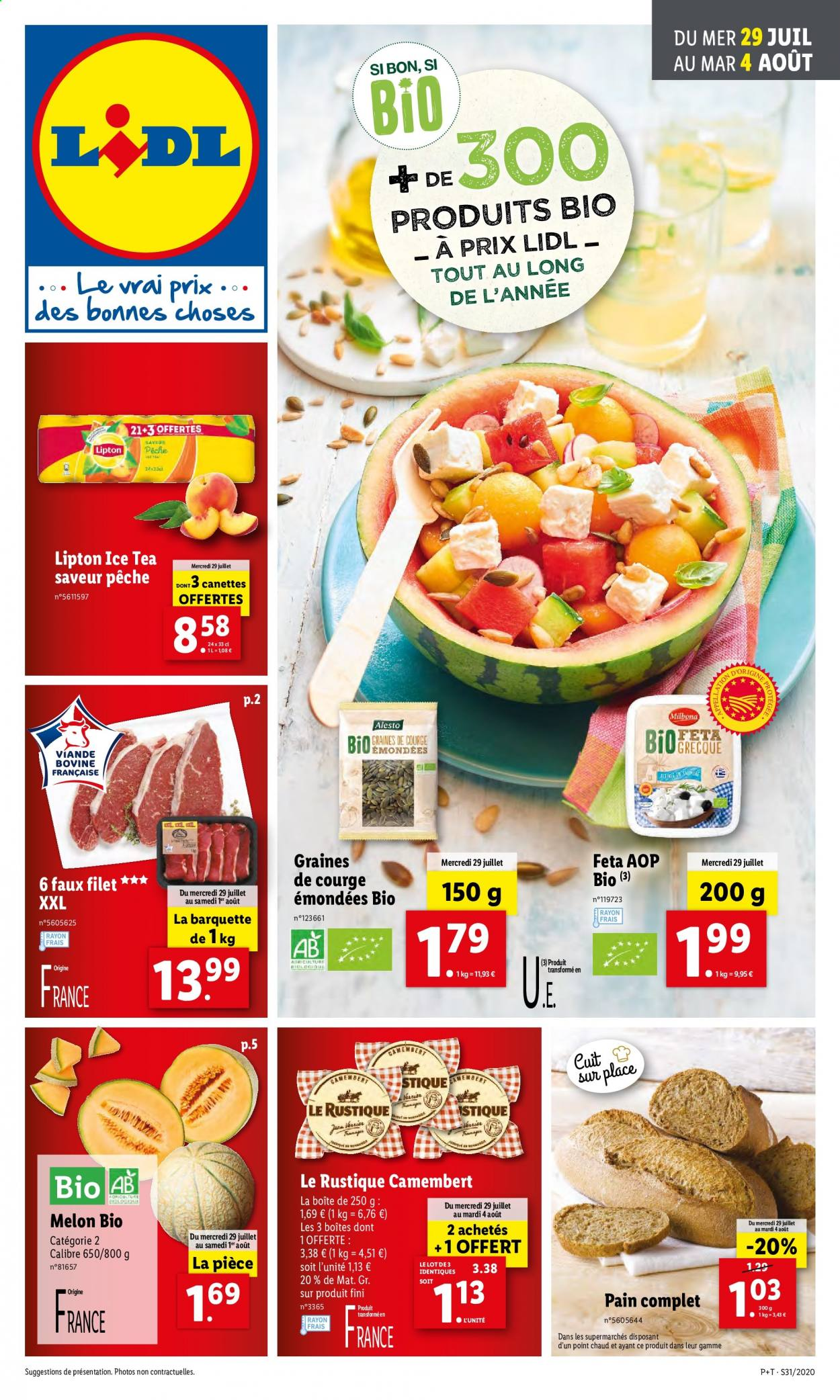 Catalogue Lidl - 29.07.2020 - 04.08.2020. Page 1.