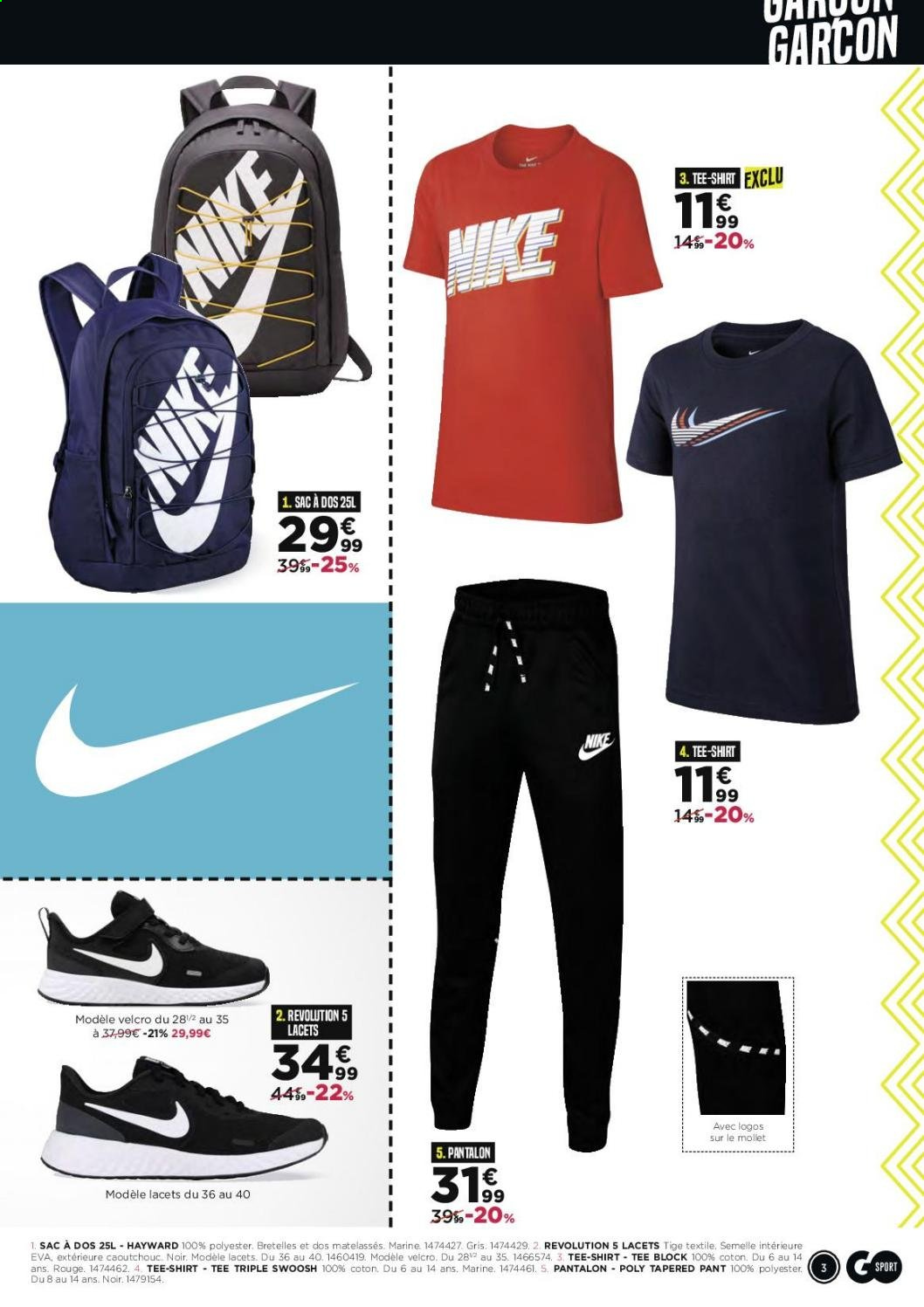 Catalogue Go Sport 29.07.2020 24.08.2020 | Vos Promos
