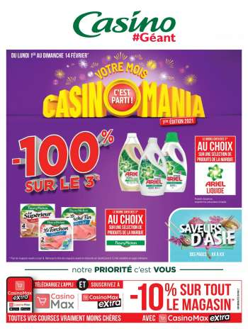 Catalogue Géant Casino - 01.02.2021 - 14.02.2021.