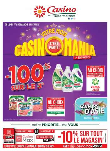 Catalogue Casino Supermarchés - 01.02.2021 - 14.02.2021.