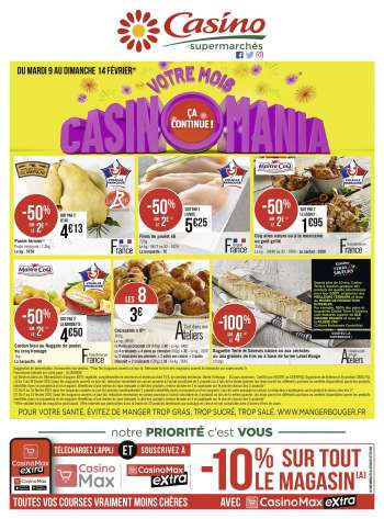Catalogue Casino Supermarchés - 09.02.2021 - 14.02.2021.