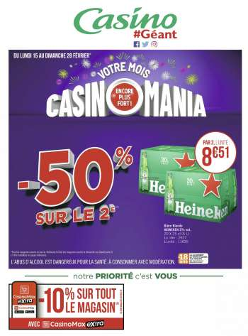 Catalogue Géant Casino - 15.02.2021 - 28.02.2021.