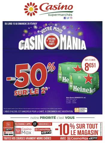 Catalogue Casino Supermarchés - 15.02.2021 - 28.02.2021.