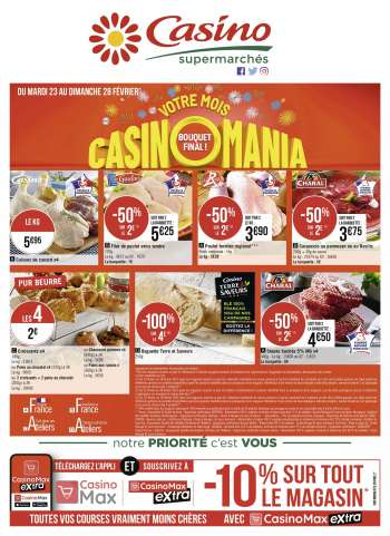 Catalogue Casino Supermarchés - 23.02.2021 - 28.02.2021.