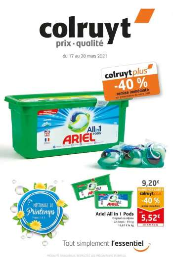 Catalogue Colruyt - 17.03.2021 - 28.03.2021.