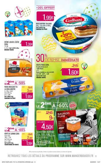 Catalogue Supermarché Match - 30.03.2021 - 05.04.2021.