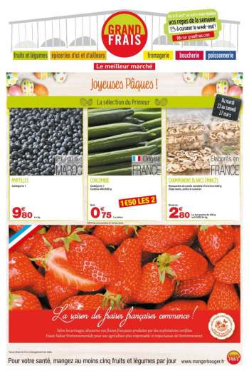 Catalogue Grand Frais - 22.03.2021 - 04.04.2021.