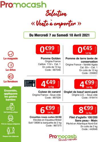 Catalogue Promocash - 07.04.2021 - 10.04.2021.