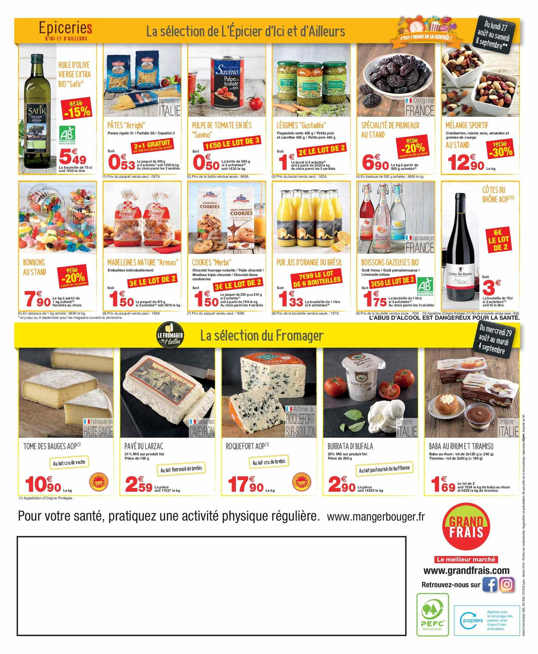 Catalogue Grand Frais - 29.08.2018 - 08.09.2018. Page 2.