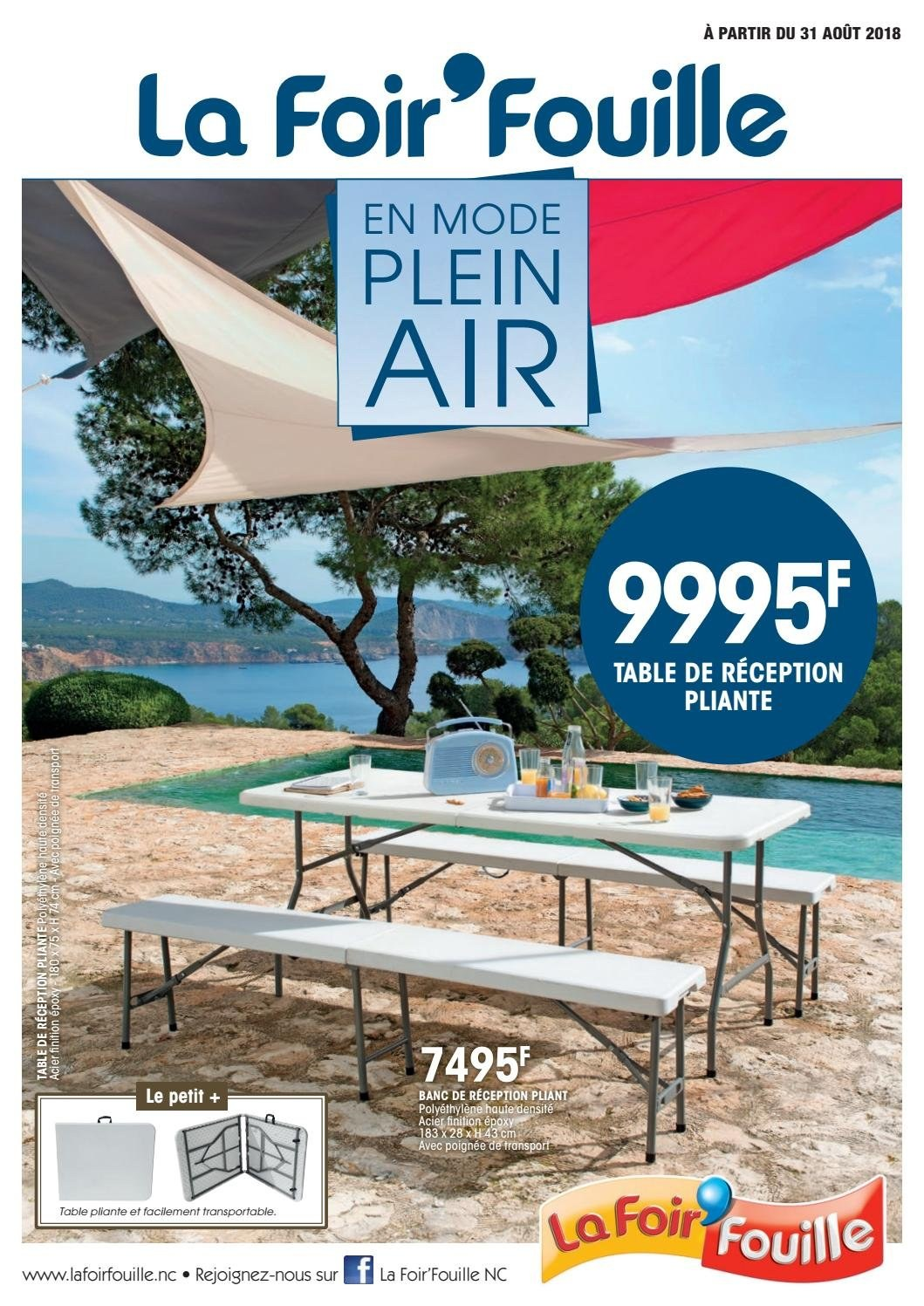 Catalogue La Foir'Fouille - 31.08.2018 - 21.09.2018 - Produits soldés - banc, table, table pliante. Page 1.
