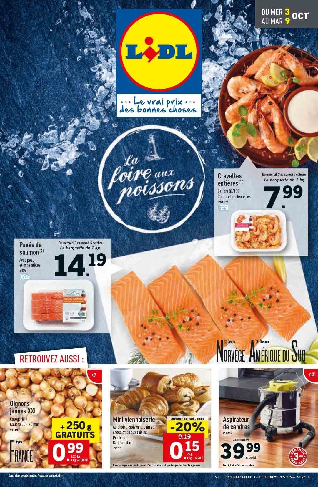 Catalogue Lidl - 03.10.2018 - 09.10.2018. Page 1.