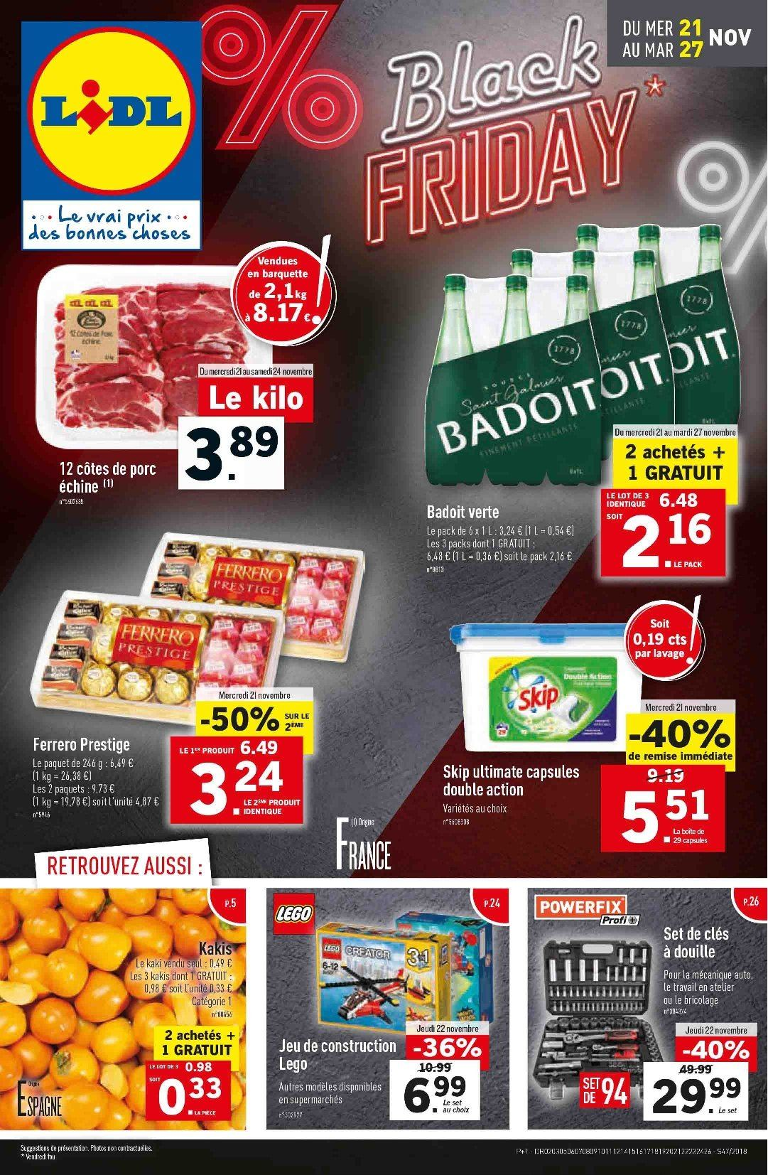 Catalogue Lidl - 21.11.2018 - 27.11.2018. Page 1.