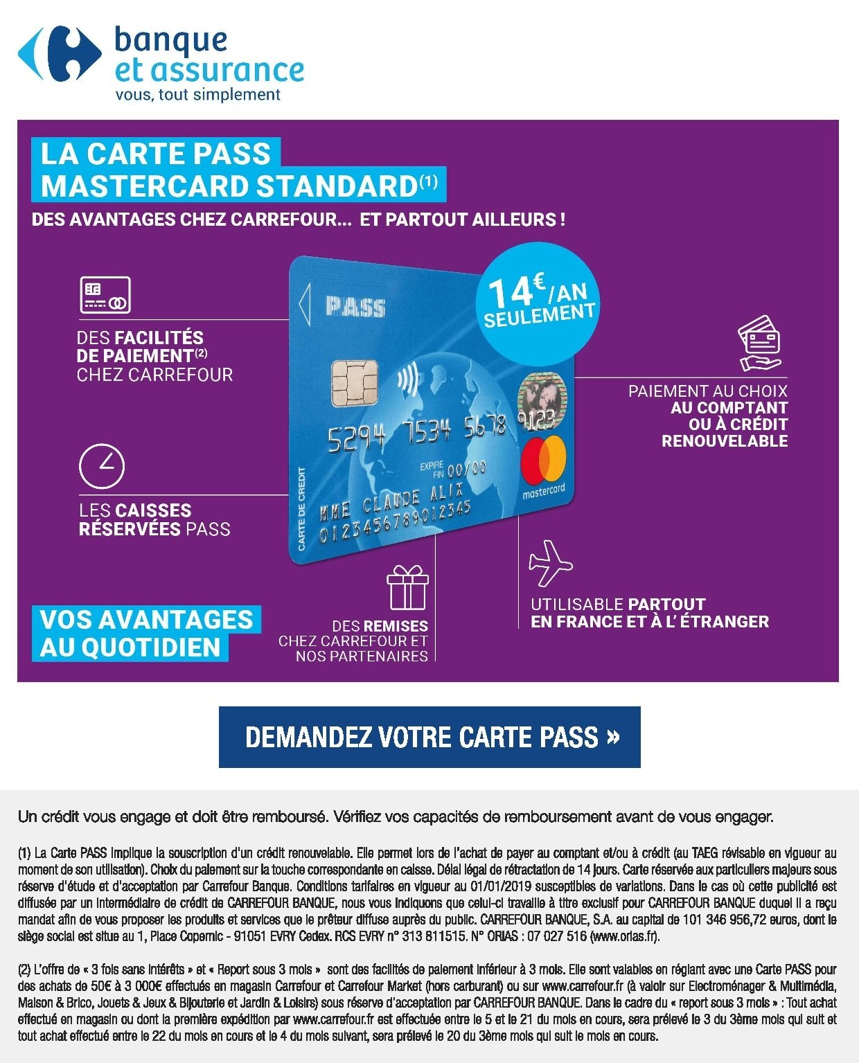 Carte Pass Carrefour Ormesson.Catalogue Prospectus Pub Carrefour 02 01 2019 07 01 2019