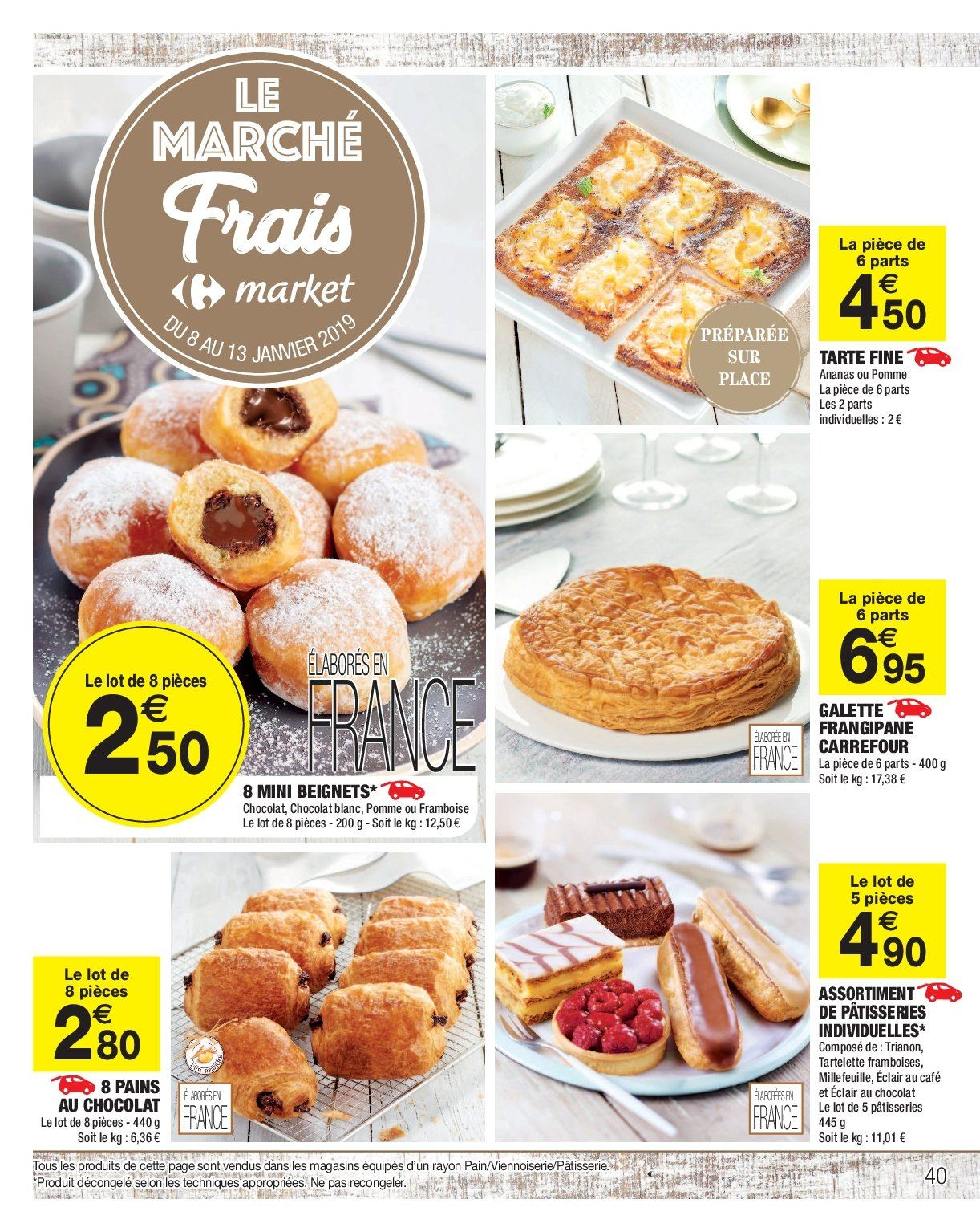 Catalogue, prospectus, pub Carrefour 08.01.2019 , 20.01.2019
