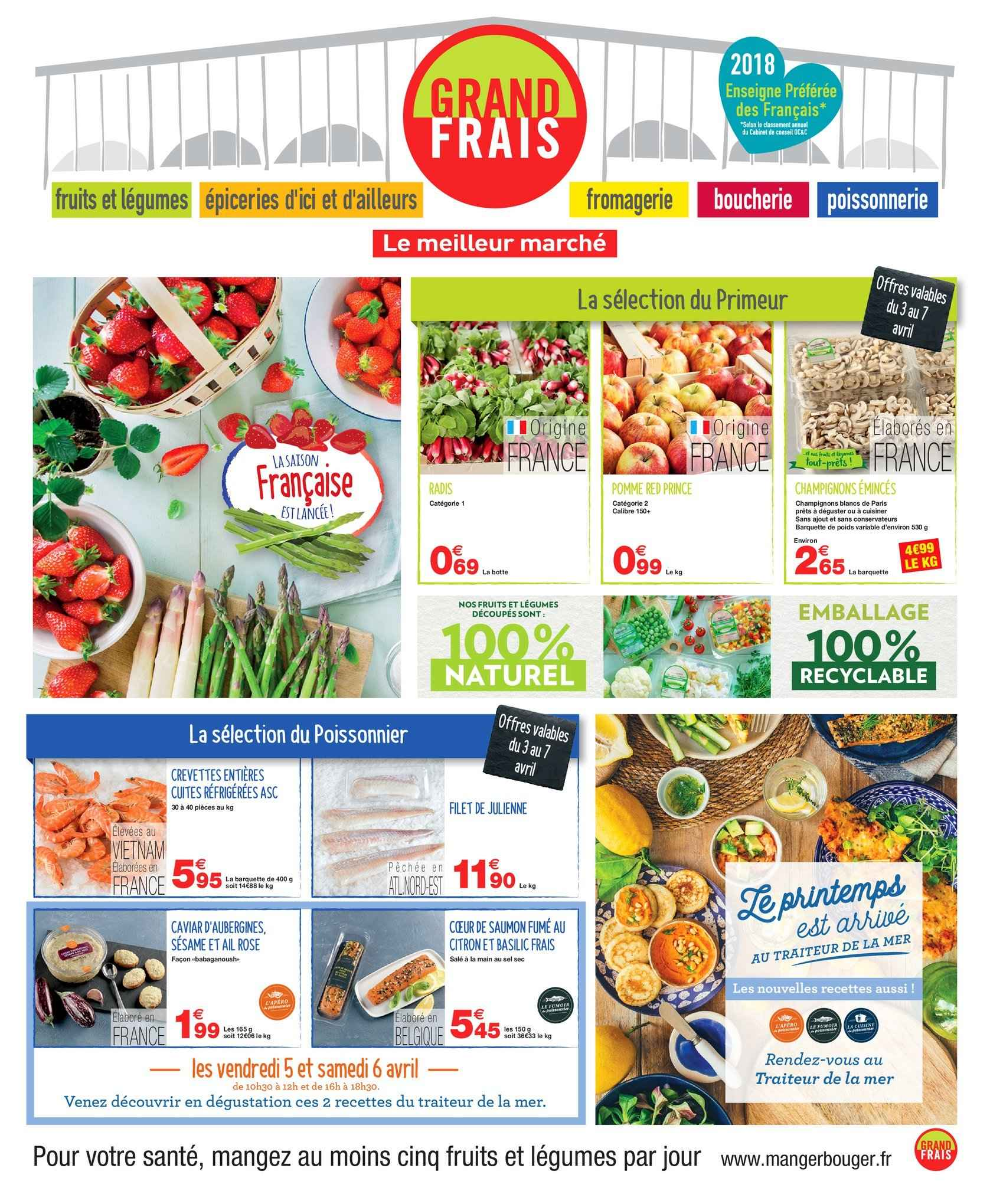 Catalogue Grand Frais - 01.04.2019 - 14.04.2019. Page 1.