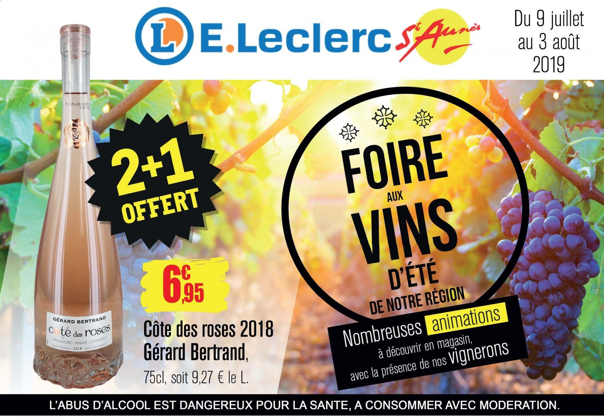 Catalogue E.Leclerc - 09.07.2019 - 03.08.2019. Page 1.