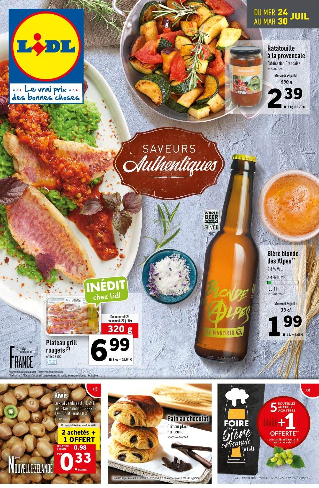 Catalogue Lidl - 24.07.2019 - 30.07.2019. Page 1.