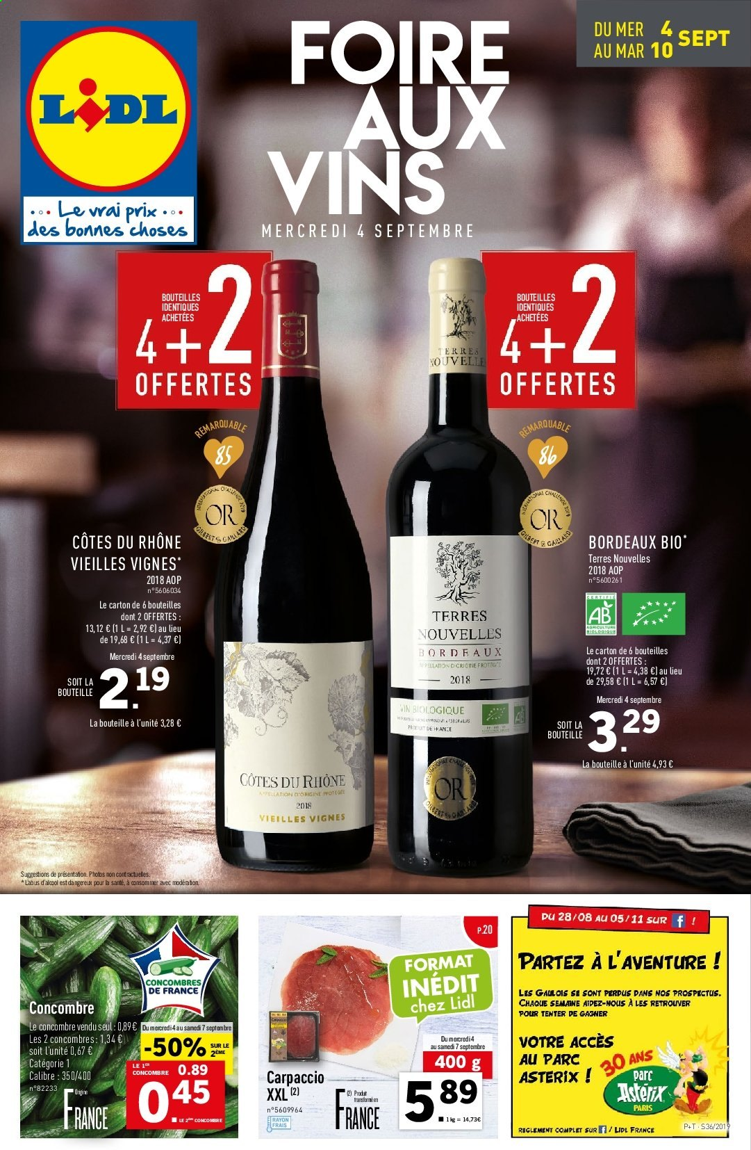 Catalogue Lidl - 04.09.2019 - 10.09.2019. Page 1.