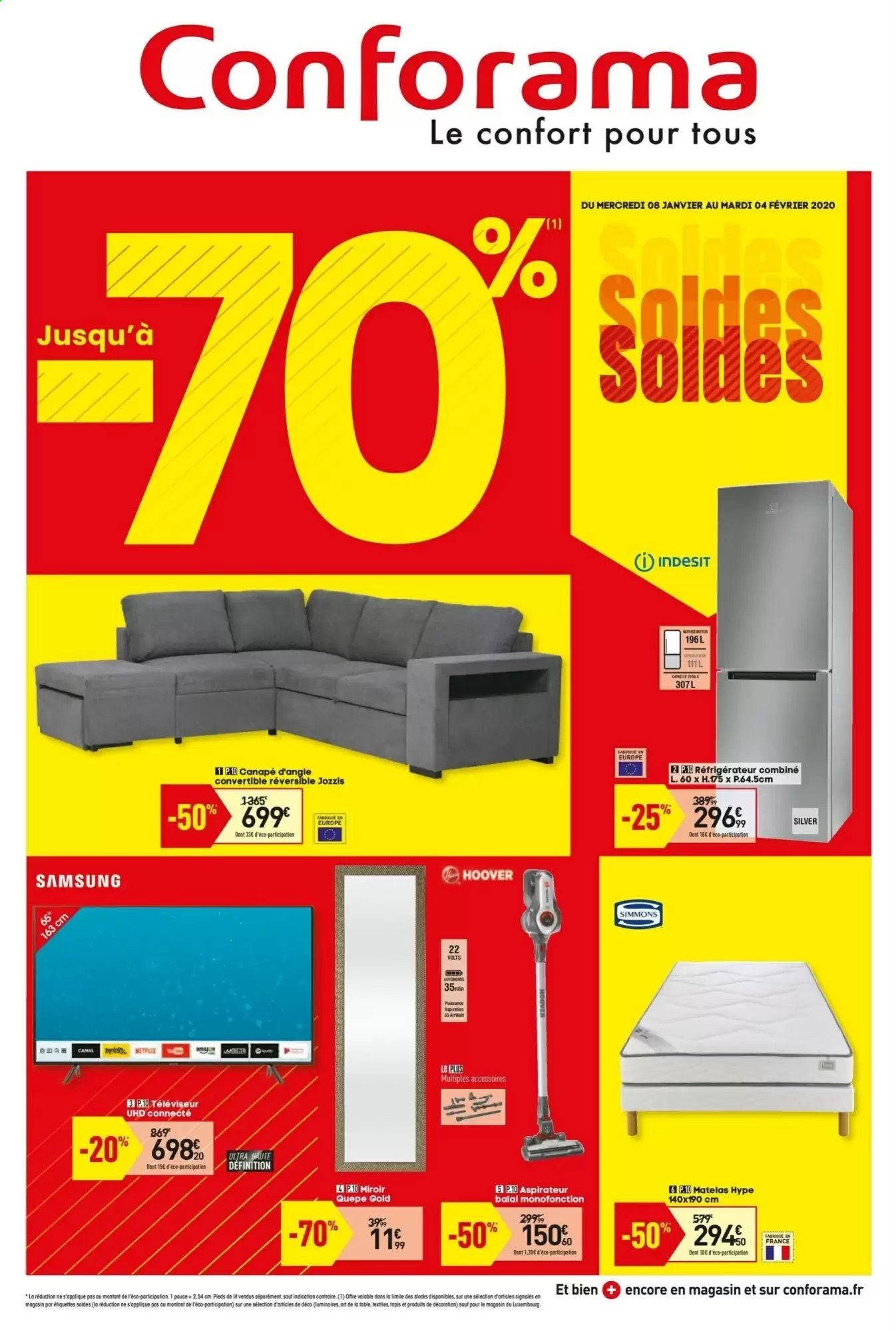 Catalogue Conforama - 08.01.2020 - 04.02.2020. Page 1.